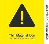 warning bright yellow material...