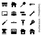 origami style icon set   house... | Shutterstock .eps vector #794684941