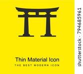 torii gate bright yellow...