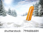 winter background of snow and... | Shutterstock . vector #794686684