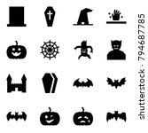 origami style icon set   grave... | Shutterstock .eps vector #794687785