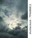 cloudy sky. light in the dark... | Shutterstock . vector #794688811