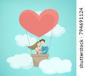 valentine day concept... | Shutterstock .eps vector #794691124