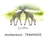vector illustration. vector pen ... | Shutterstock .eps vector #794694205