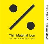 percent bright yellow material...