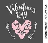 happy valentines day. romantic... | Shutterstock .eps vector #794695765