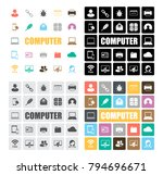 computer icons set | Shutterstock .eps vector #794696671