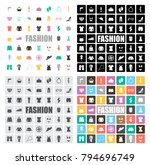 fashion icons set | Shutterstock .eps vector #794696749
