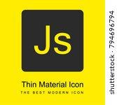 java script logo bright yellow...