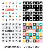 summer icons set | Shutterstock .eps vector #794697151