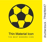 soccer bright yellow material...