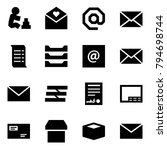 origami style icon set  ... | Shutterstock .eps vector #794698744