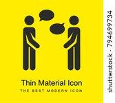 talking bright yellow material...
