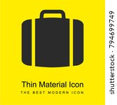 baggage  bright yellow material ...