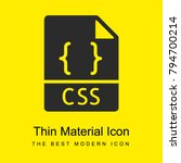 css bright yellow material...