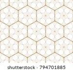 gold japanese pattern vector....   Shutterstock .eps vector #794701885