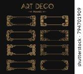 set of art deco borders and... | Shutterstock .eps vector #794701909