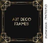 vintage retro style invitation  ...   Shutterstock .eps vector #794701915