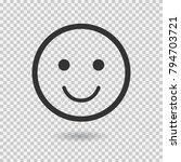 smile vector icon. emoji....