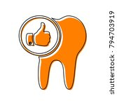 tooth sign with thumbs up... | Shutterstock .eps vector #794703919