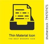 inbox bright yellow material...