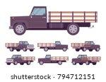 black empty truck. vehicle to... | Shutterstock .eps vector #794712151