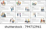 set of office work strategy... | Shutterstock .eps vector #794712961