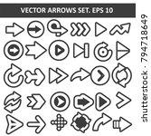 vector arrows set | Shutterstock .eps vector #794718649