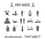 hiv aids symptoms  treatment.... | Shutterstock .eps vector #794718877