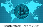 crypto currency coin with... | Shutterstock .eps vector #794719219