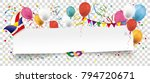 white paper banner with... | Shutterstock .eps vector #794720671