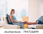 side view of young business...   Shutterstock . vector #794726899