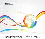 abstract colorful globe design... | Shutterstock .eps vector #79472983