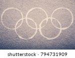 south korea  february 9  2018 ... | Shutterstock . vector #794731909