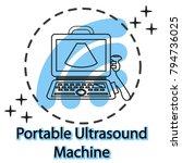 portable laptop ultrasound... | Shutterstock .eps vector #794736025