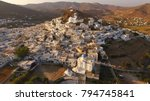aerial photo of iconic chora of ...   Shutterstock . vector #794745841