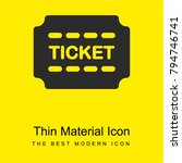 ticket bright yellow material...