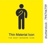 man swearing bright yellow... | Shutterstock .eps vector #794746759