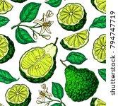 bergamot vector seamless... | Shutterstock .eps vector #794747719