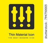 settings bright yellow material ...