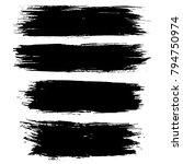 grunge ink brush strokes set.... | Shutterstock .eps vector #794750974