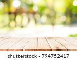 empty table for present product ... | Shutterstock . vector #794752417