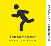 runner  bright yellow material...