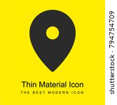 location pin bright yellow...