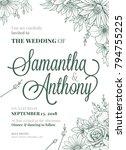 wedding invitation greeting... | Shutterstock .eps vector #794755225