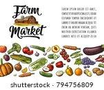 farm market calligraphic...   Shutterstock .eps vector #794756809