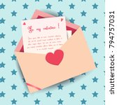 love letter invitation card... | Shutterstock .eps vector #794757031