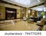 luxury lobby interior.   Shutterstock . vector #794775295