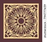 laser cutting panel. golden...   Shutterstock .eps vector #794777659
