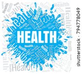 health word cloud. square... | Shutterstock .eps vector #794778049